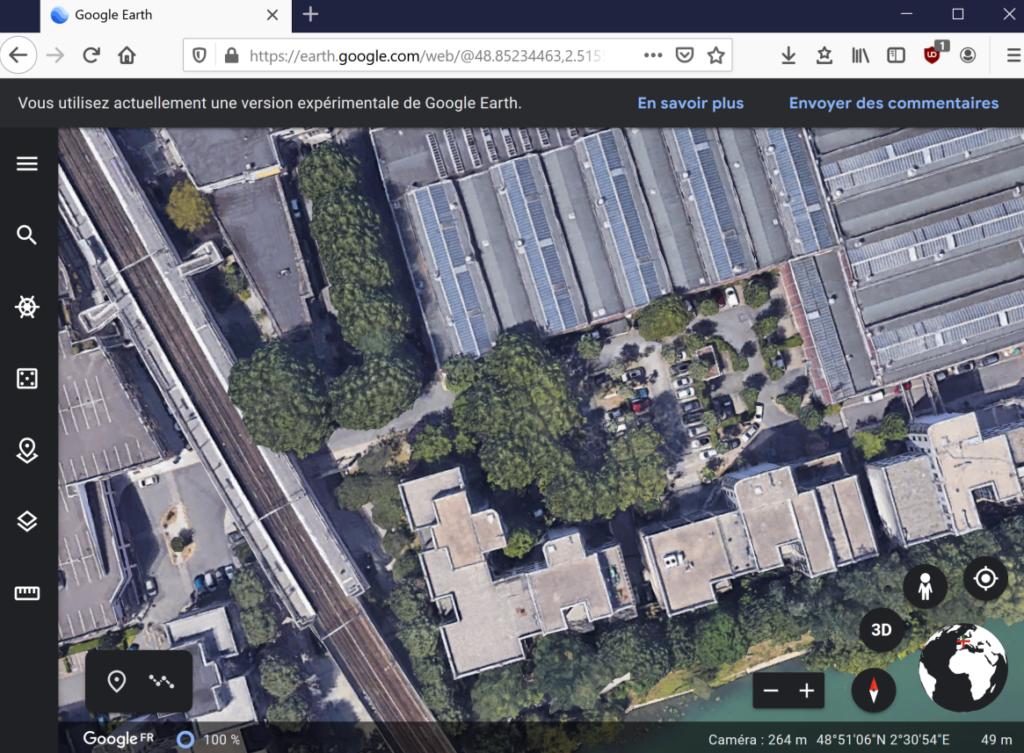 Les locaux de Cantor avec GoogleEarth ... en WebAssembly !